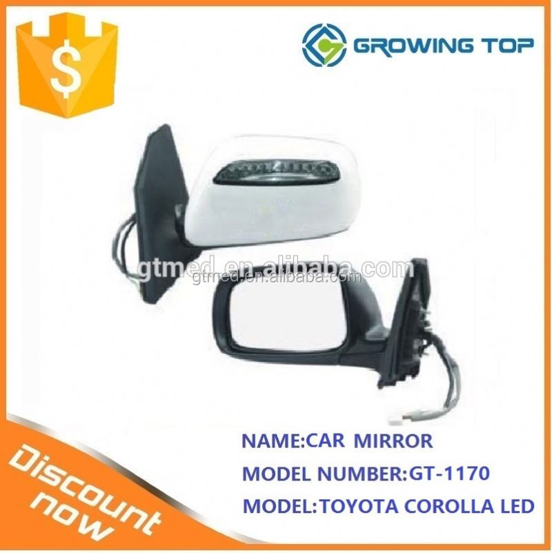 ISO Certification Standard size side view mirror PZM46-12537 R PZM47-12537 Lfor toyotaA corolla led