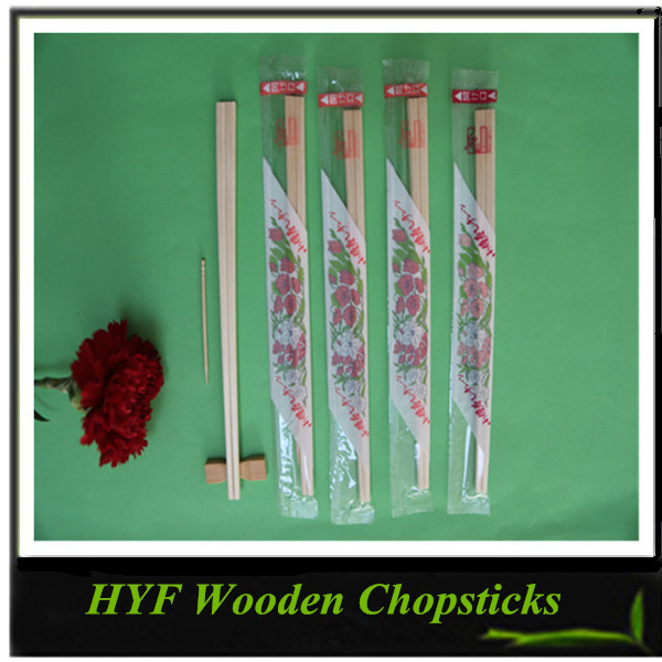 Plastic Covered Disposable Bamboo / Wood Chopsticks 2