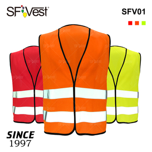 Wholesale 100% Polyester Custom Traffic Work High Visibility Security EN20471 Reflective Road Construction Class 2 Safety Vest