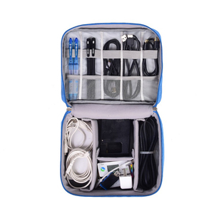 Double Layers Travel Gadget Organizer Electronics Accessories Carry Bag Oxford Digital Storage Bags