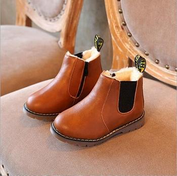 Kids Shoes Boys Boots New Autumn Winter Solid Gentleman Fashion Martin Boys  Shoes Kids Soft Outdoor Girls Boots Shoes Size 21,30 , Buy Boy Boots,Kids