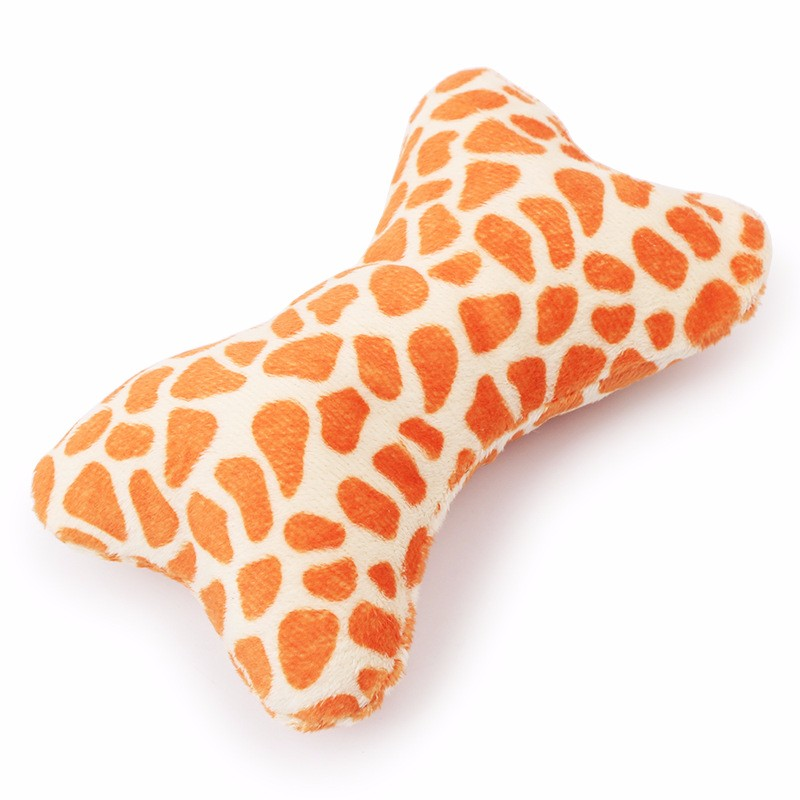 Mulicolour Bone Shape Squeakly Pet Plush Toy