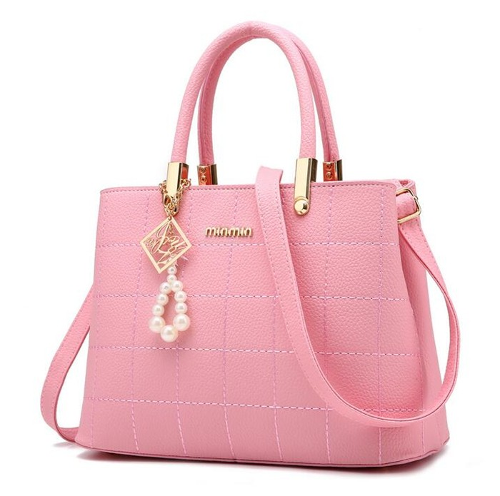 49a79a379540 Source 2018 New design fashion simple bags pink woman handbag for ...