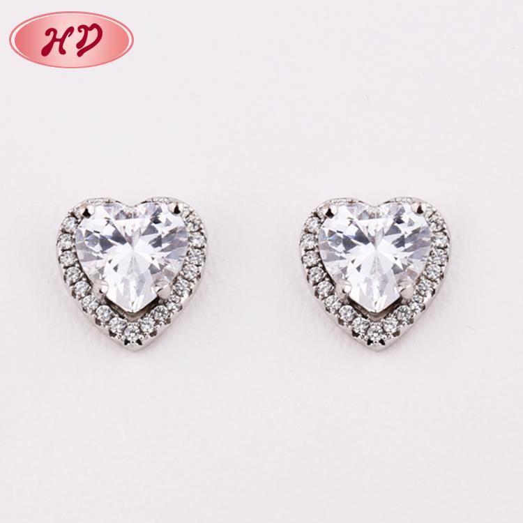 Whole Fashion Jewellery 2017 White Gold Plated Aaa Cubic Zirconia Drop Earrings For Earring Women Jewelry
