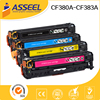Color toner cartridge CF380A CF381A CF382A CF383A for hp printers laserjet