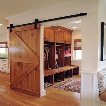 Rustic Style Used Barn Door Hardwaresolid Wood Interior Sliding