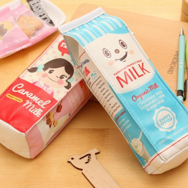 Cute Home Office Storage Students Boys Girls Pencil Case Creative Milk Pencil Bag For Kids Gift Novelty Item Creative A80 Home & Garden Home Office Storage