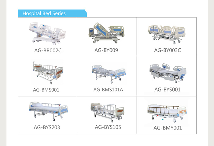 AG-BMY001 medical three functions clinic mobile hydraulic hospital bed health equipment price for patient