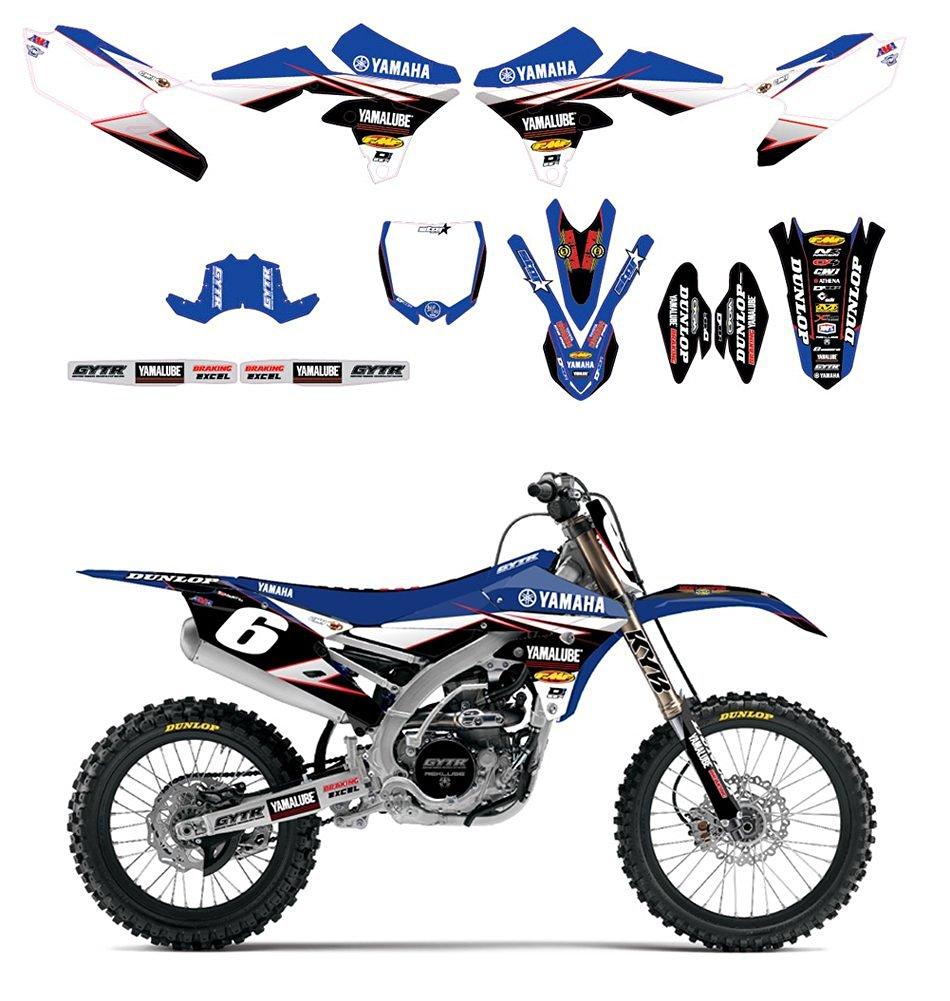 Buy DCor 2016 Team Star Yamaha Graphics / Trim / White Numberplates