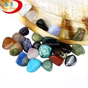 hot sale mixed natural tumbled stones/ Tumbled Stone Healing Reiki Crystal Ship Crushed Stones