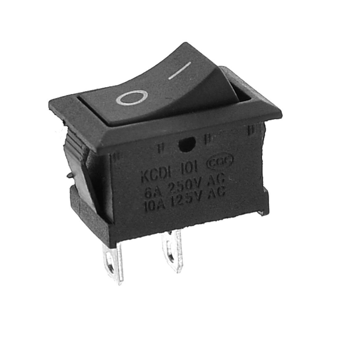 uxcell AC 250V/6A 125V/10A On/Off I/O SPST Boat Rocker Switch