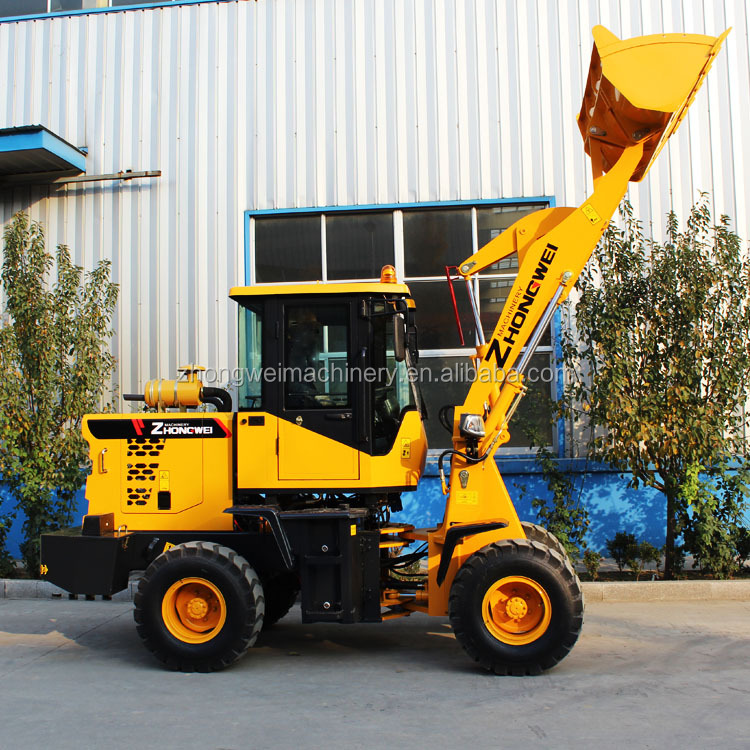 China 1.2 ton-1.5 ton Wheel Loader with CE certification wheel payloader