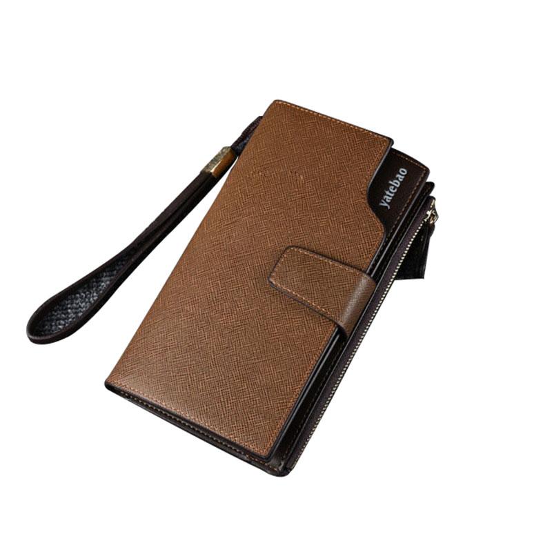YTF-P-QB034 Online Einkaufen Freies Verschiffen PU Leder Lange Brieftaschen Herren Brieftasche