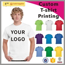 2017 NEW DESIGN custom cotton plain cheap t-shirt printing for promotional