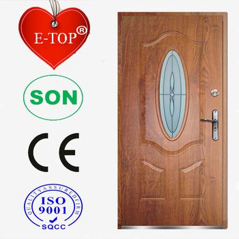 E Top Door Factory Made In China Custom Size Steel Door Glass Insert