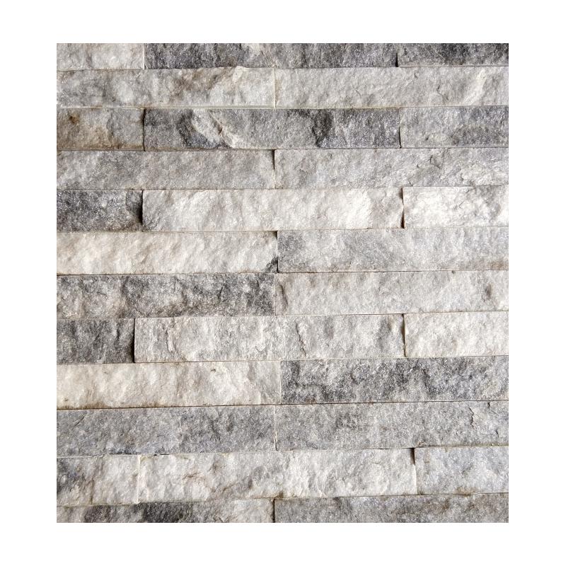 Cloudy Gray Stone Backsplash Tile