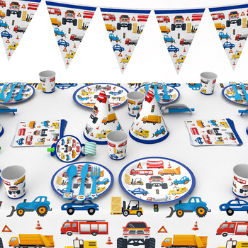 Car Party Decoration Children's Birthday vehicles theme party supplies
