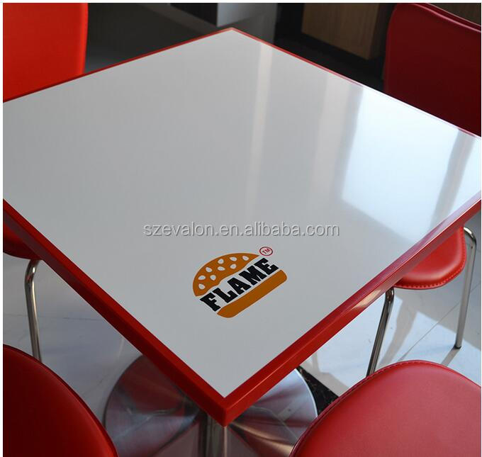 Solid surface square marble dinning table set, restaurant table,square cafe table and chairs cafe tables