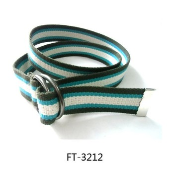 83bbafbf75d42 Canvas Web Belt D-ring Buckle 1.25