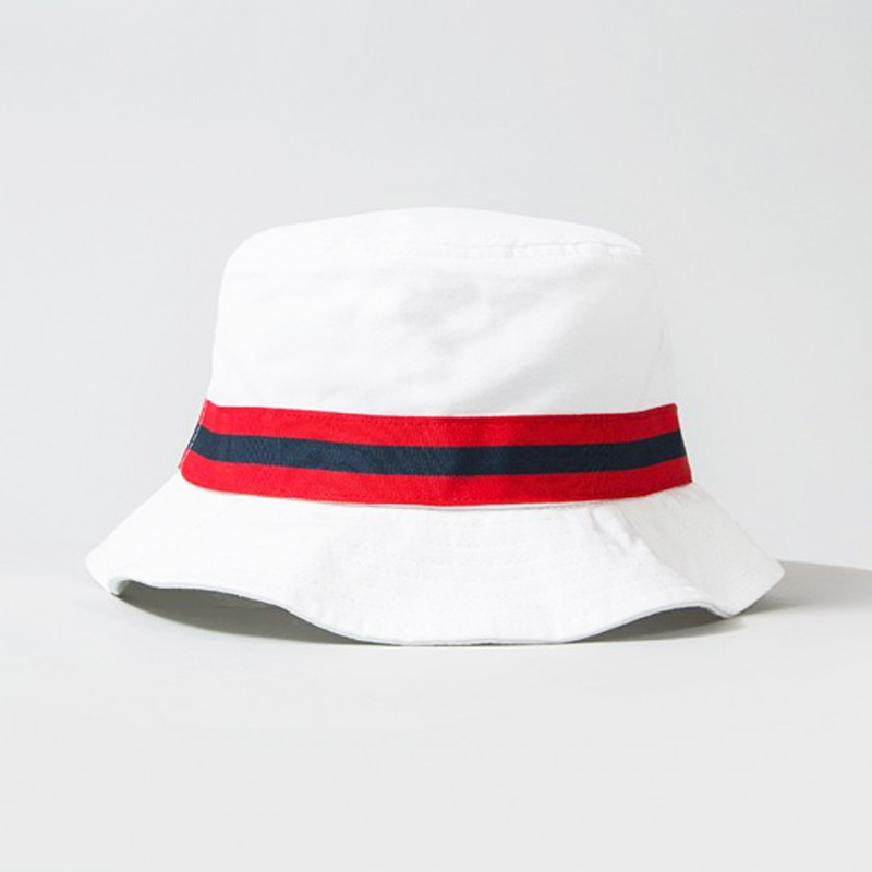 Small Brim Cotton Italy Sport White Bucket Hat Golf Bucket