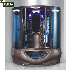 (R-87801) Enclosed massage whirlpool steam shower room
