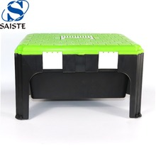 Fashionable outdoor/indoor 11 inches height portable garden plastic storage tool stool