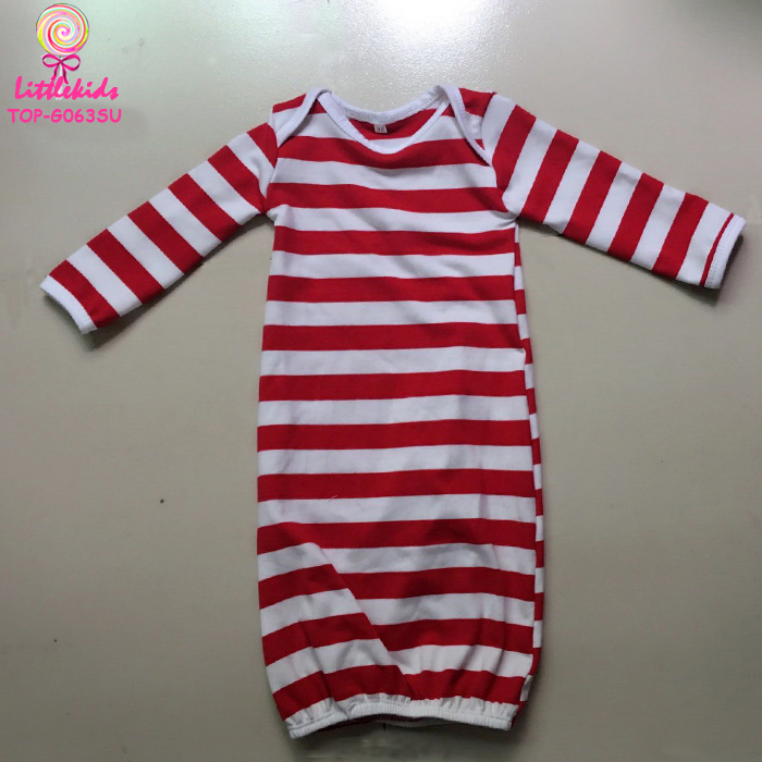 649dd03d5 Winter Baby Sleepwear Clothes Children Pajamas Red And White Stripes Girls  Evening Party Dress Long Sleeve Elastic Gowns