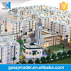 Residential building model with fitting, House modelling with model material