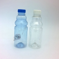 280ml 9oz round or cylinder pet spice mineral water bottle plastic for drinks, milk, oil