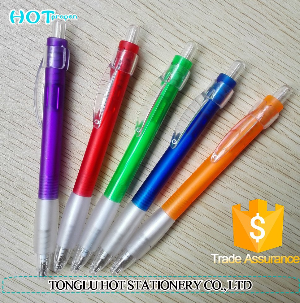 Plastic colored cheaper plastic ball pen