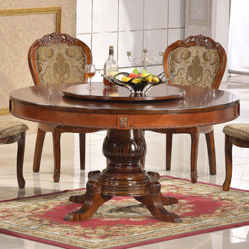 European Dining Room Furniture Solid Rubber Wood Oval Shape Table