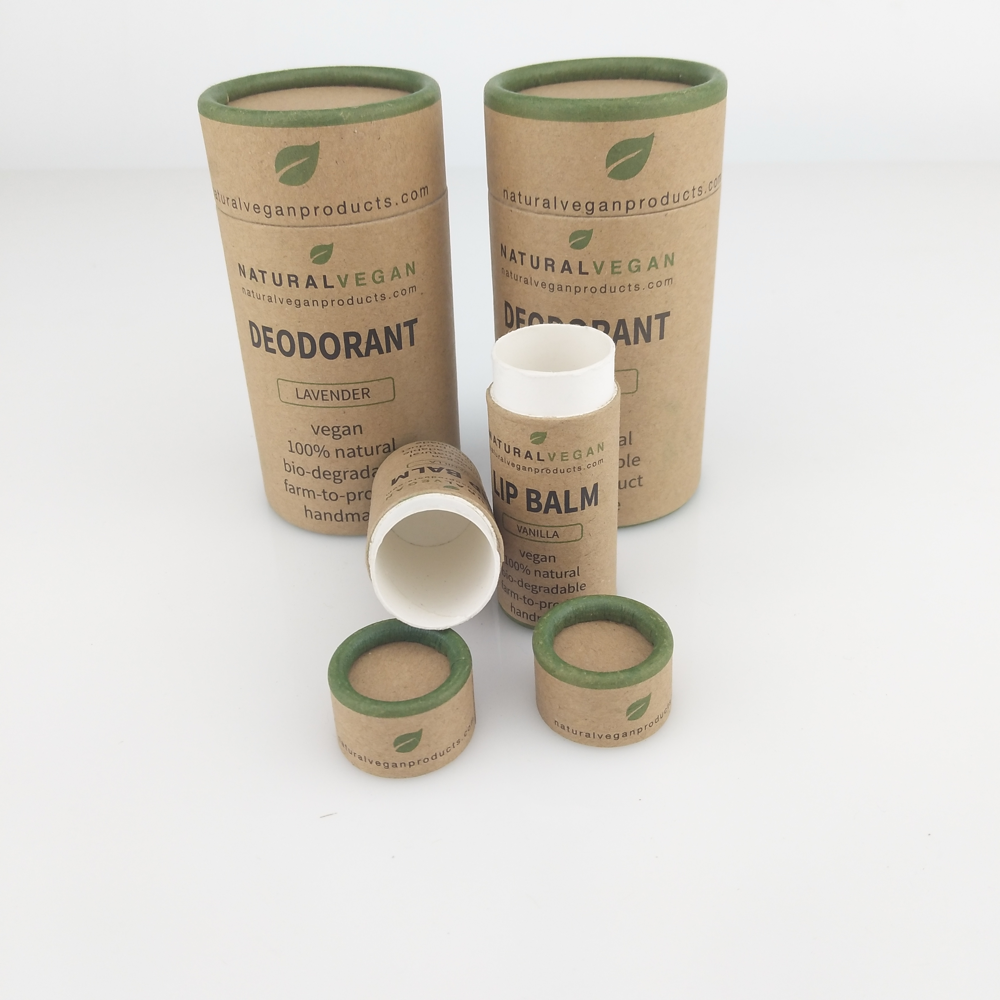 Eco friendly kraft biodegradable lip balm tubes lipstick tube
