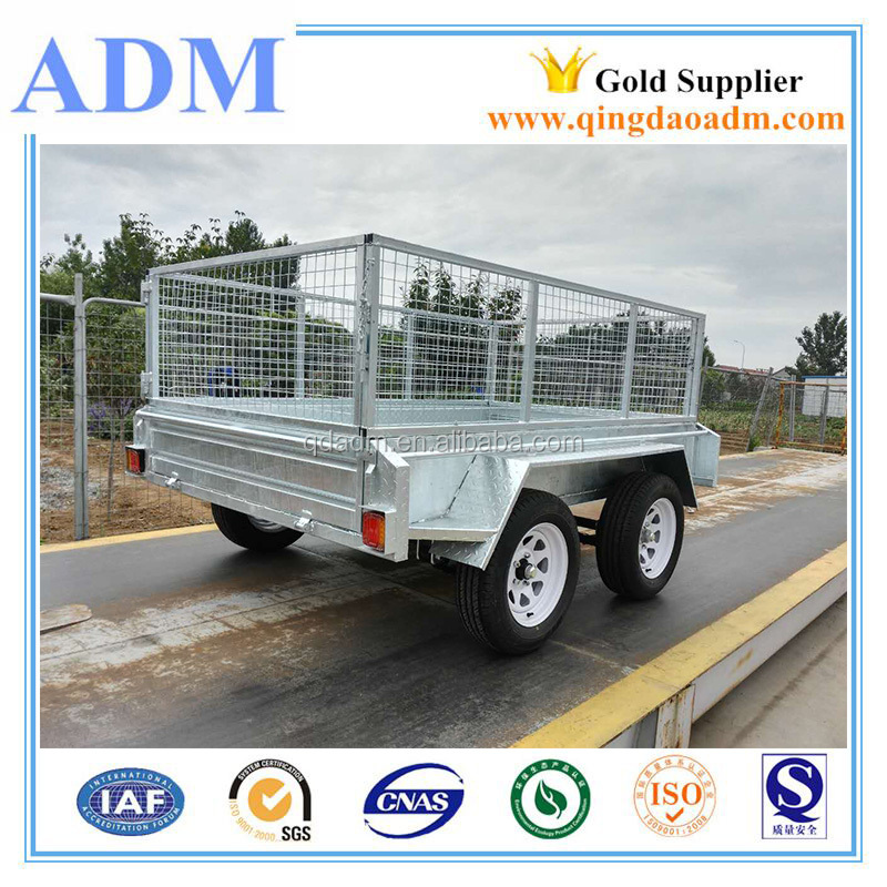 Heavy duty hot dip galvanized 8x5 tandem trailer