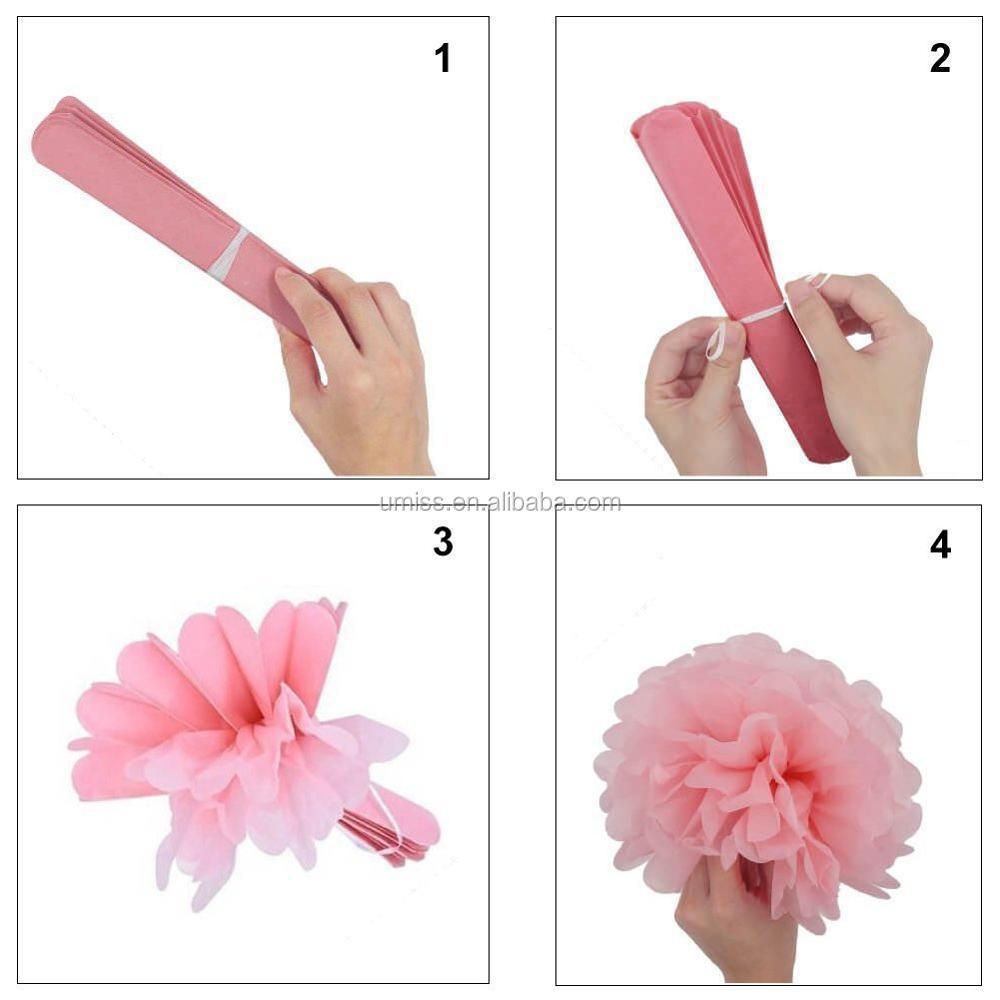 26 Pcs Tissue Paper Pom Poms Flowers Paper Lanterns And Star Paper
