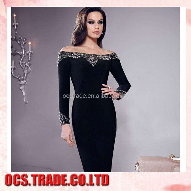 2015 New Arrival broadcloth old fashion evening dress