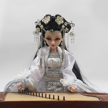 Yw Df0102 Traditional Chinese Style Decorative Zither Dolls Buy China Dolls Traditional Chinese Doll Decorative Dolls Product On Alibaba Com