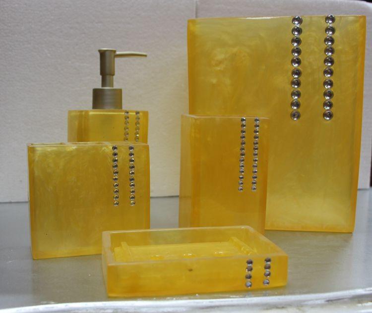 Jaune diamant chine accessoire de salle de bain ensemble - Accessoire salle de bain jaune ...