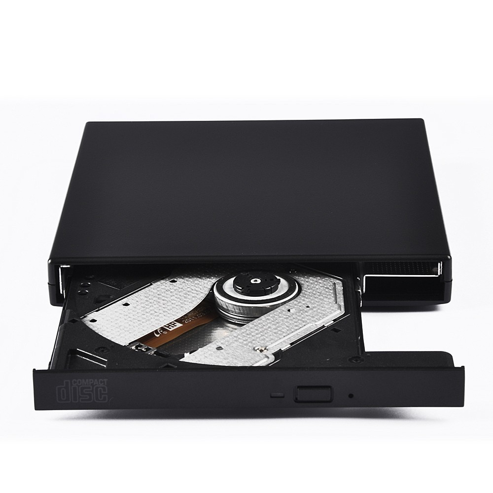 External DVD Combo DVD-RW CD-RW Burner Drive CD+-RW DVD ROM Black USB2.0 SLIM portable optical drive