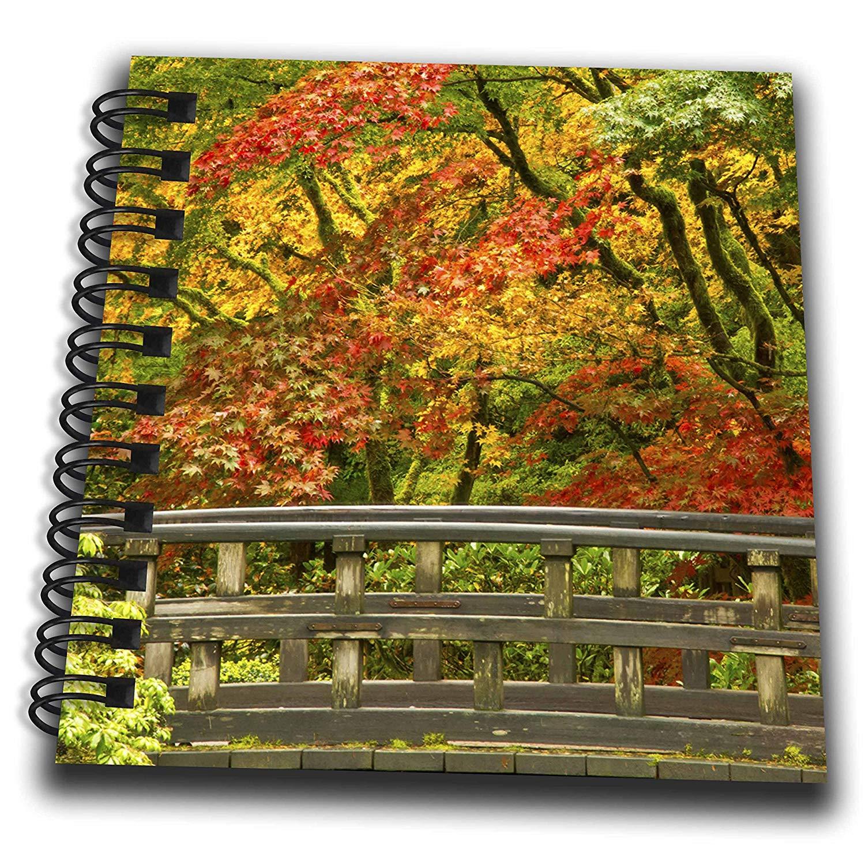 3dRose Danita Delimont - Bridges - Bridge in autumn color, Portland, Oregon, Usa - Mini Notepad 4 x 4 inch (db_279383_3)