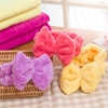Microfiber Ladies Bowknot Headbands for Facial Mask and Washing Face