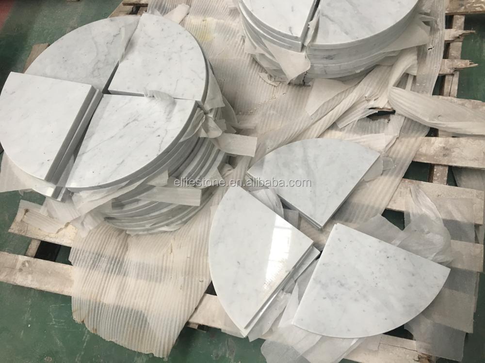 Bianco carrara marmo doccia mensola angolare bagno in pietra caddy