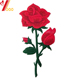 rose patches custom embroidery patch fashion design red peony with iron on back forever rose embroider for clothing female