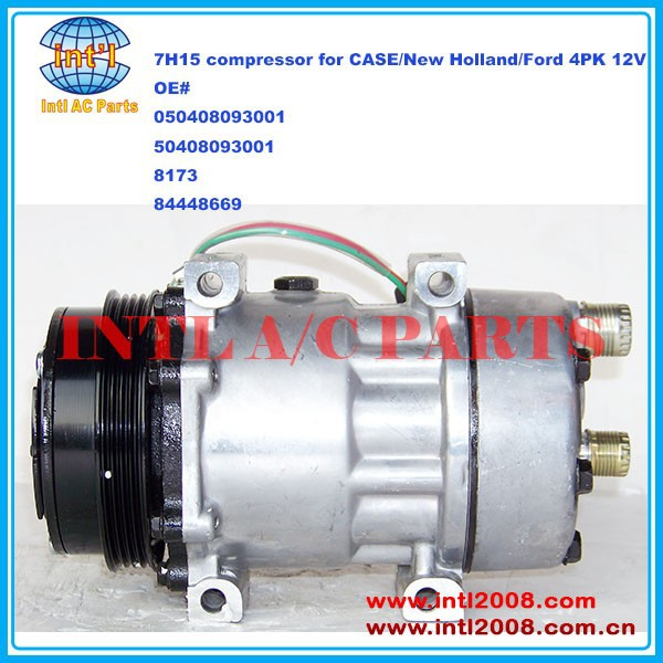 Sanden 7H15 7S15 709 SD709 SD7H15 auto ac compressor for CASE/New Holland/Ford 4pk