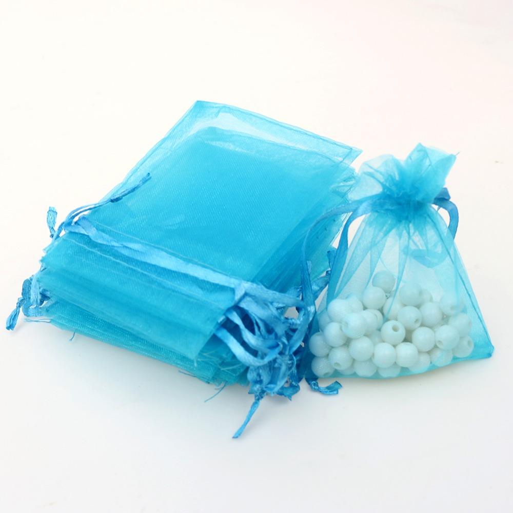Buy 7x9cm Organza Bags Light Blue Jewelry Storage Bags Organza ...