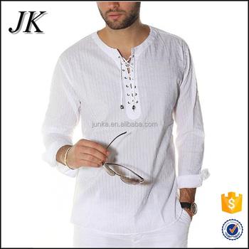 Collarless Dress Shirt Mens