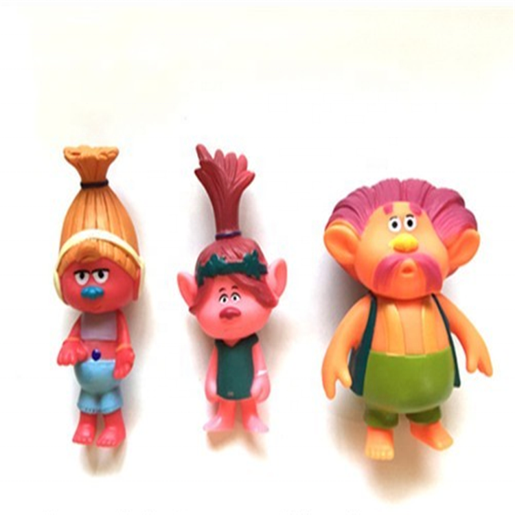 Muti-color plastic hot troll doll action figure <strong>toys</strong>