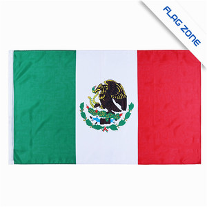 Top quality logo printed custom green white red Mexican the national flag