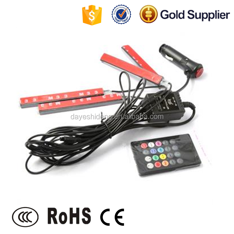 15CM 9led 4 in 1 RGB color Sound Control Car 5050 smd mini led strip light