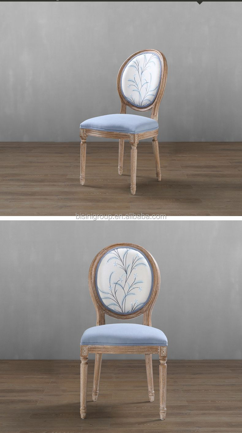 Bisini American Style Dining Room Fabric Chair Simple