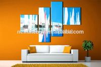4 piece decor art set modern wall art seascape Glacier Abstract hand painted Oil Painting on Canvas for living room decoration